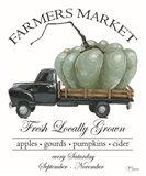 Farmers Market Truck Art Print