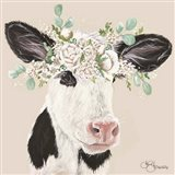 Patience the Cow Art Print