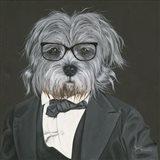 Dog in Suit Art Print