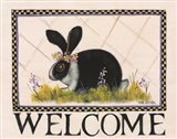 Bunny Welcome Art Print