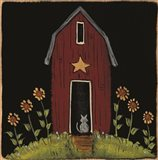 Cat Barn Art Print