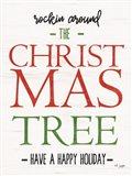 Rocking Around the Christmas Tree Art Print