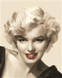 The Look Red Lips II Art Print