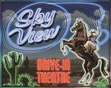 Skyview Drive In III Art Print