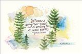 Heavenly Pines Art Print