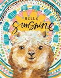 Hello Sunshine Llama Art Print