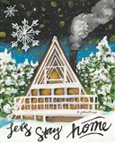 Let's Stay Home A-Frame Art Print