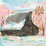 Windmill Barn Art Print