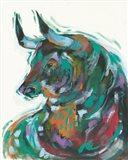 The Bull at Blossom Barn Art Print