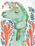 Llama in the Desert Art Print