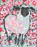 My Sheep Rose Art Print