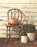 Pumpkin & Chair Art Print