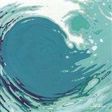 Circling Wave I Art Print