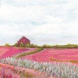 Pink Fall Farm Art Print