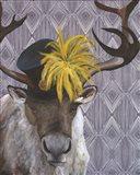 Mrs. Caribou Art Print