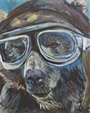 Pilot Bear 1 Art Print