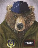 Pilot Bear 2 Art Print