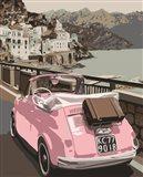 Pink Bug in Europe Art Print
