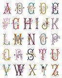 In the Garden Alphabet Art Print