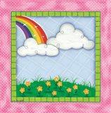 Rainbow & Clouds Art Print