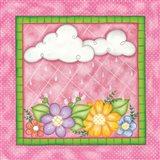 Clouds & Flowers Art Print