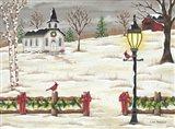 Christmas Lamppost Art Print