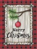 Red Christmas Plaid Art Print