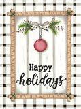 White Holiday Plaid Art Print