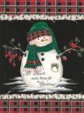 Hearts Home for Christmas Art Print