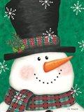 Portrait Snowman Art Print