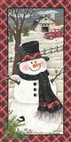 Farmhouse Snowman Art Print