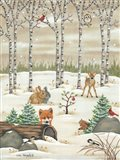 Woodland Critters Art Print