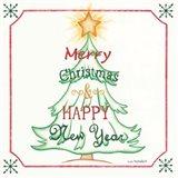 Tree and Happy New Year Art Print