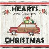 Hearts Come Home for Christmas Art Print