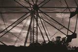 Ferris Wheel at Sunset Art Print