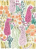 Hello Cheetah - Pink Art Print