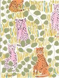Hello Cheetah - Pink & Orange Art Print