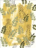 Hello Cheetah - Green Art Print