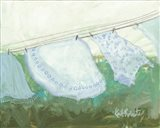 Sun-Bleached Linens Art Print