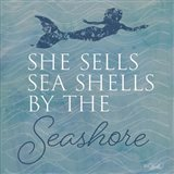 She Sells Seashells Art Print