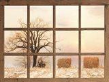 View of Winter Fields Art Print