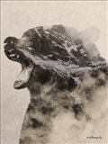 Bear Fog Art Print
