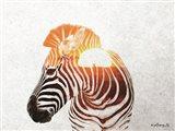Zebra with Sun Art Print