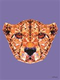 Geometric Cheetah Art Print