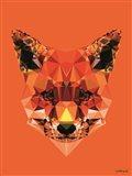 Geometric Fox Art Print