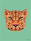 Geometric Leopard Art Print