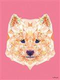 Geometric Samoyed Dog Art Print