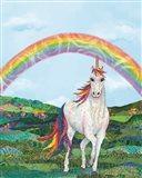 Rainbow Pastures Art Print