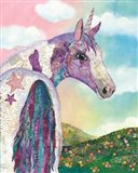 Starry Unicorn Art Print