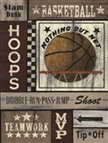 Basketball Hoops Art Print